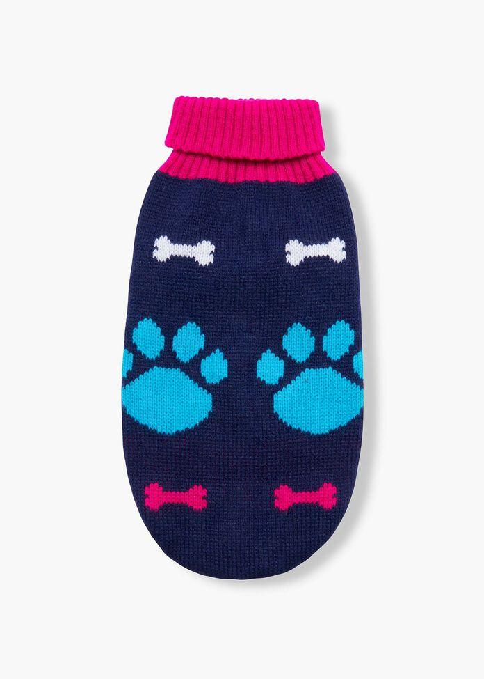 Bone & Paw Knitted Pet Jumper, , hi-res