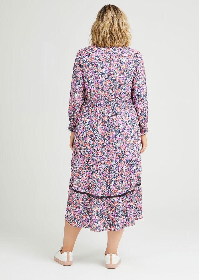 Natural Pastel Ditsy Dress, , hi-res