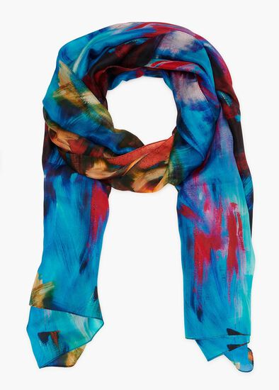 Outside Lines Silk Scarf