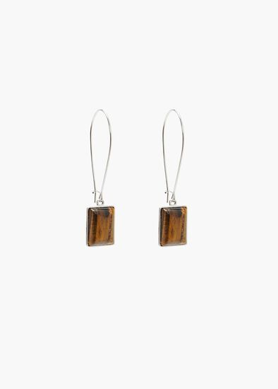 Stone Baguette Earrings