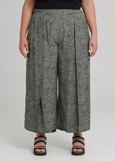 Lino Palm Crop Pant