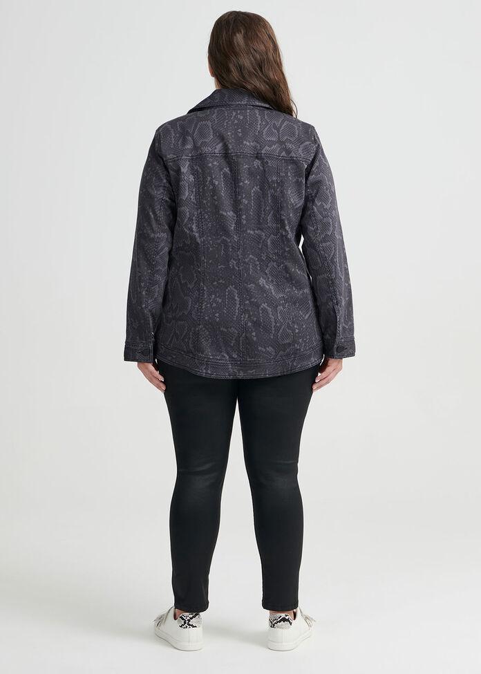 Python Denim Jacket, , hi-res