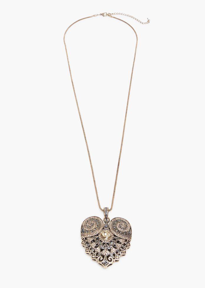 Aleah Heart Necklace, , hi-res