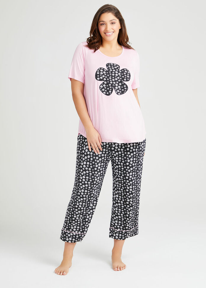 Bamboo Fleur Pyjama Top, , hi-res