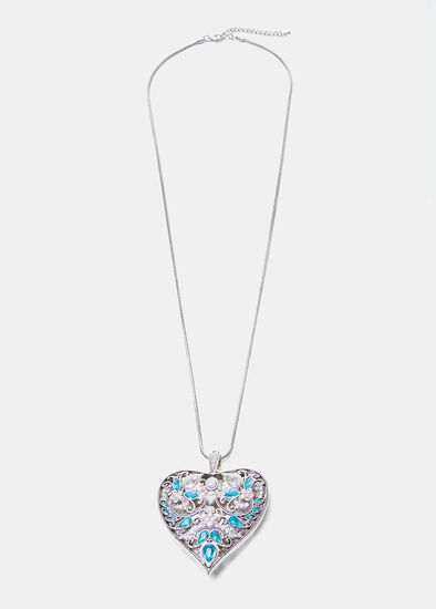 The Blues Heart Necklace