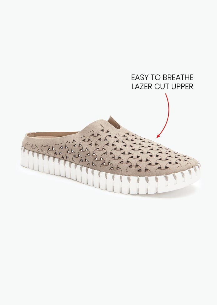 Liza Lazer Cut Mule, , hi-res