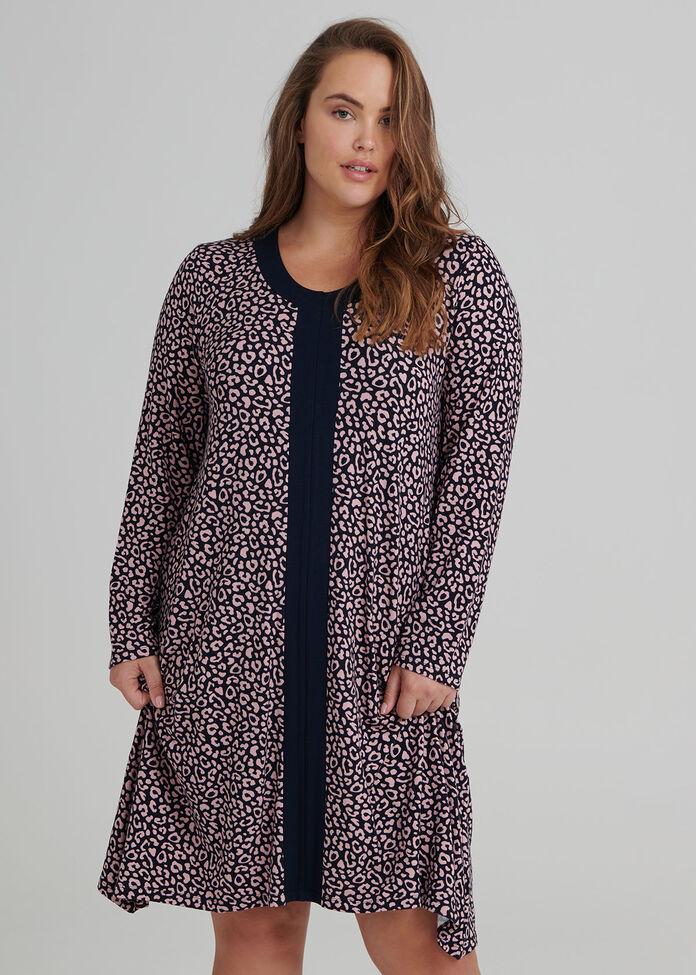 Leopard Bamboo Nightie, , hi-res
