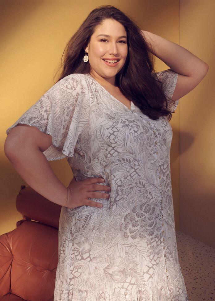Natural Treasures Button Dress, , hi-res