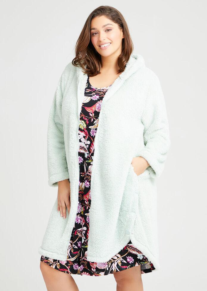 Cosy Zip Hoodie Dressing Gown, , hi-res