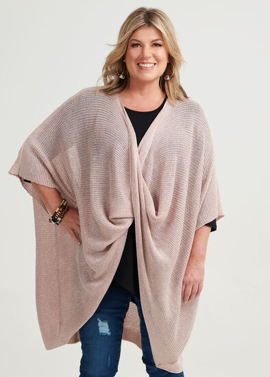 Blush Twist Front Poncho