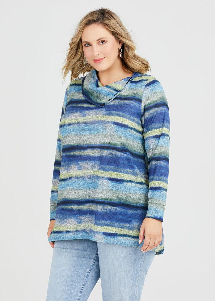 Cosy Waves Stripe Top, , hi-res