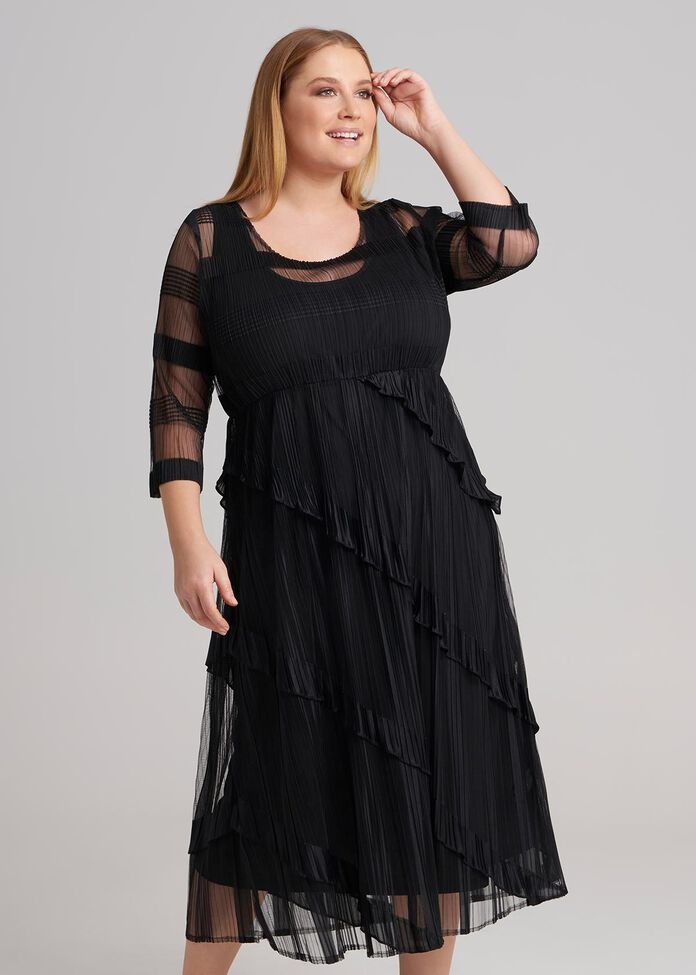 Hazine Pleated Dress, , hi-res