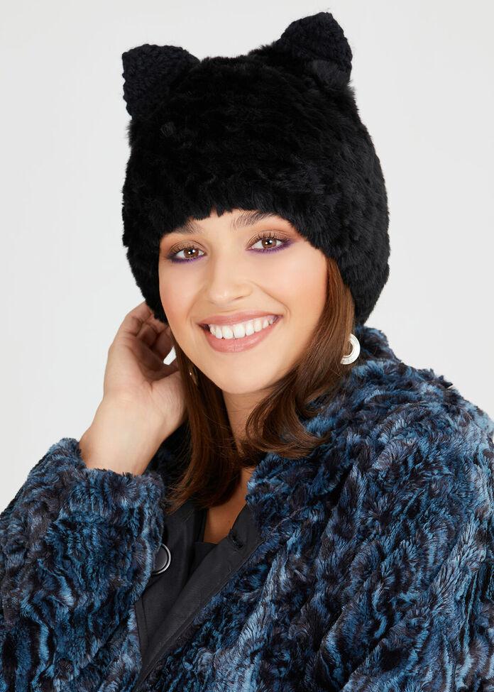 Fur Kitty Beanie, , hi-res