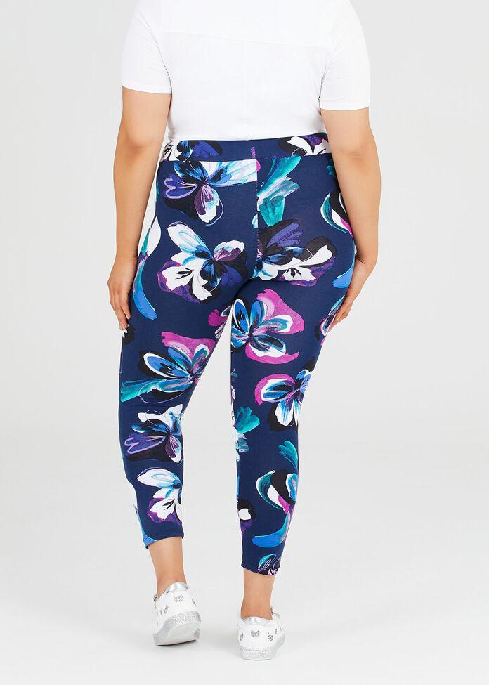 Blooms Of Blue Legging, , hi-res