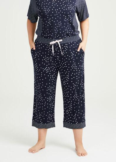 Bamboo Mini Stars Pyjama 3/4 Pant