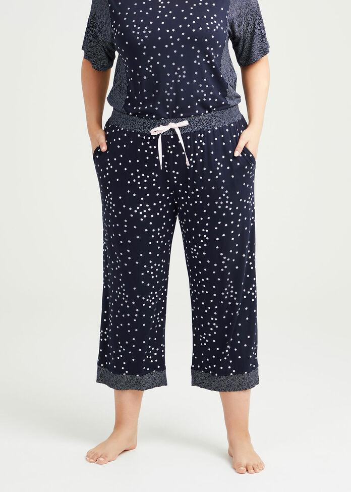 Bamboo Mini Stars Pyjama 3/4 Pant, , hi-res