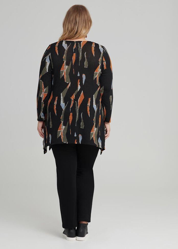 Abstract Sunset Tunic, , hi-res
