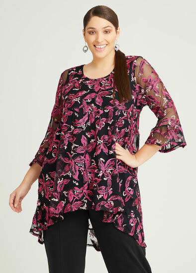 Wild Rose Embroidered Tunic