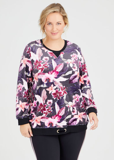 Velour Mystic Floral Sweat