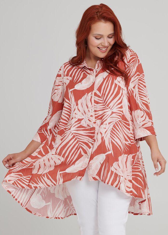 Tonal Palm Shirt, , hi-res