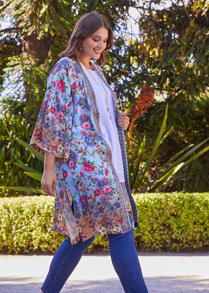 Natural Botanical Kimono, , hi-res