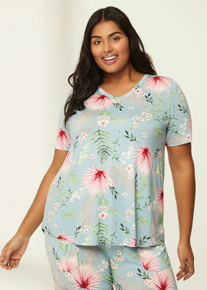 Bamboo Garden Pyjama Top, , hi-res