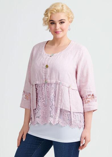 Linen Lace Jacket