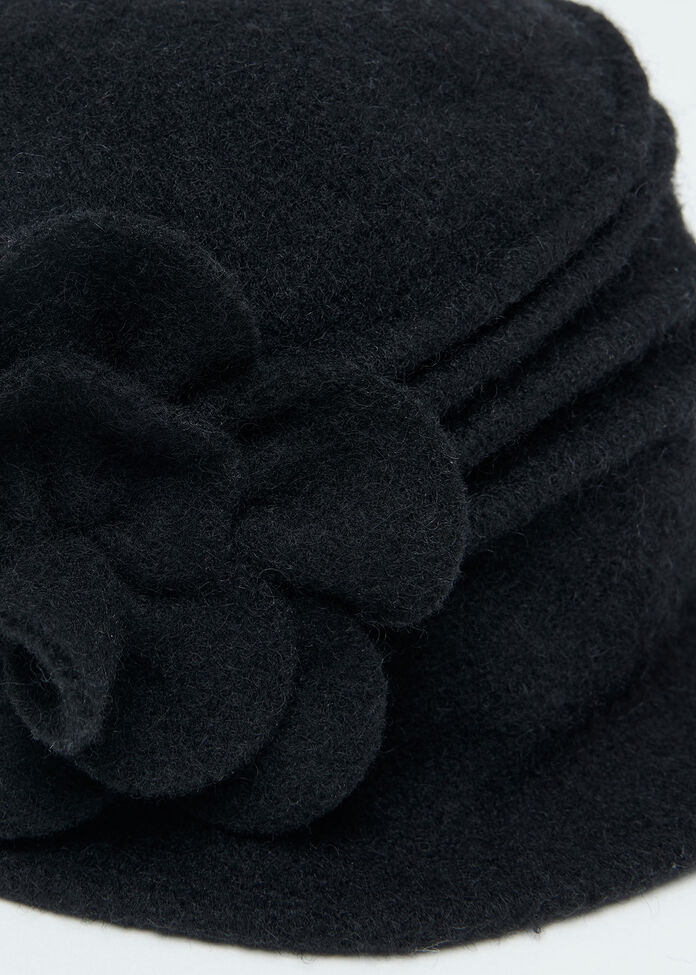 Rosette Cloche Hat, , hi-res