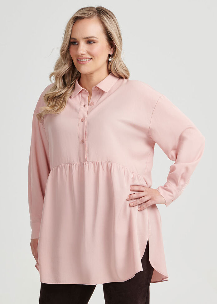 Greta Lyocel Shirt, , hi-res