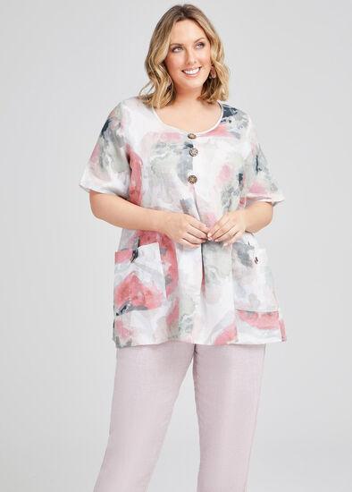 Misty Vibe Linen Pocket Tunic