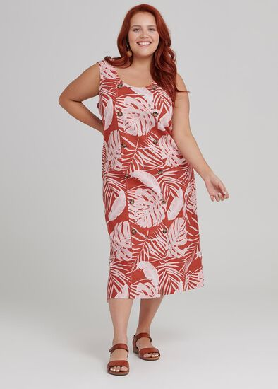 Tonal Palm Dress