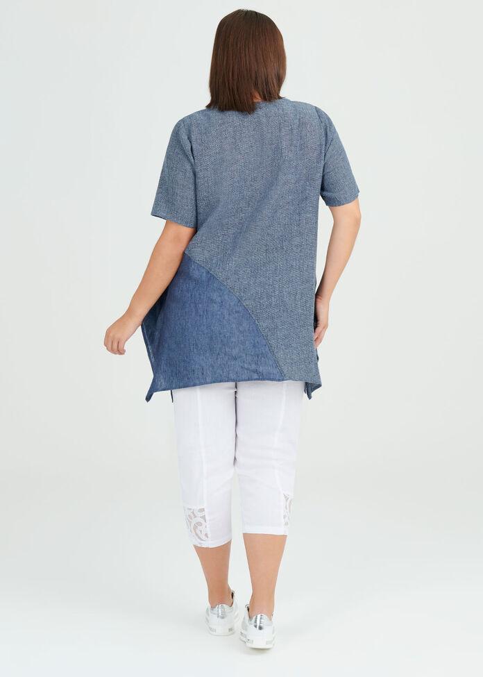 Simply Blues Linen Tunic, , hi-res