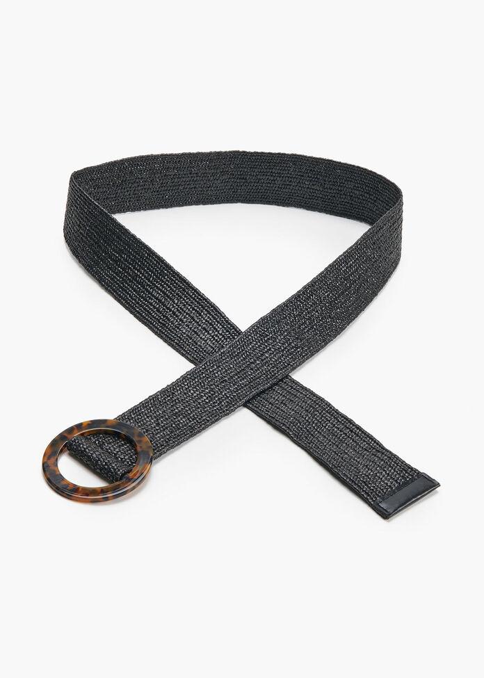 Black Textured Belt, , hi-res