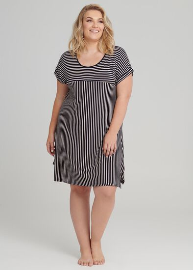 Splice Stripe Nightie