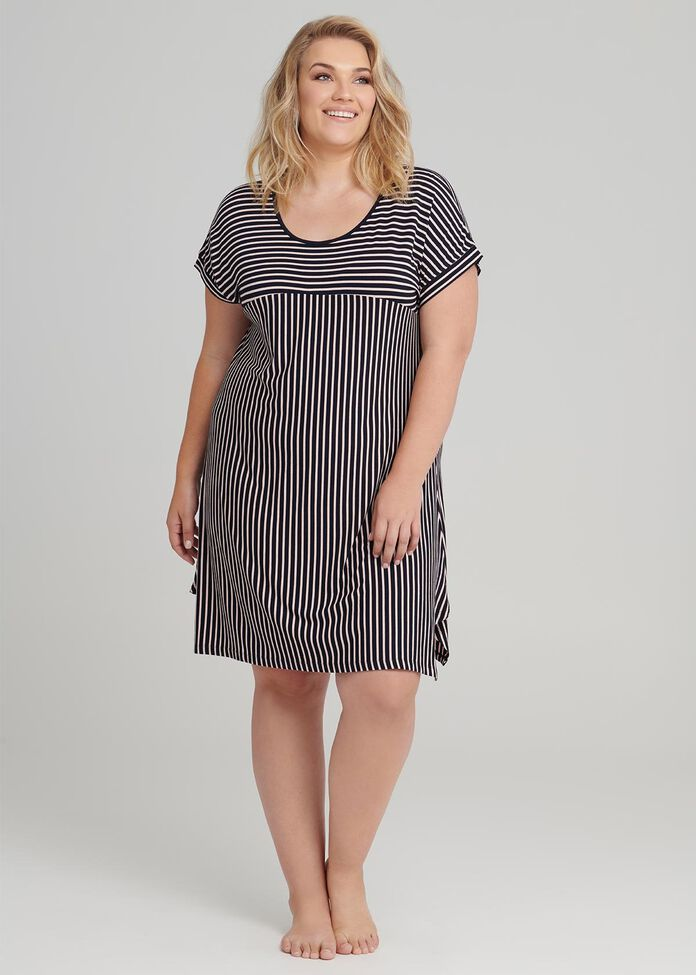 Splice Stripe Nightie, , hi-res