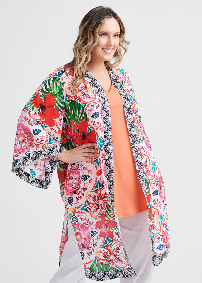Natural Boho Kimono, , hi-res