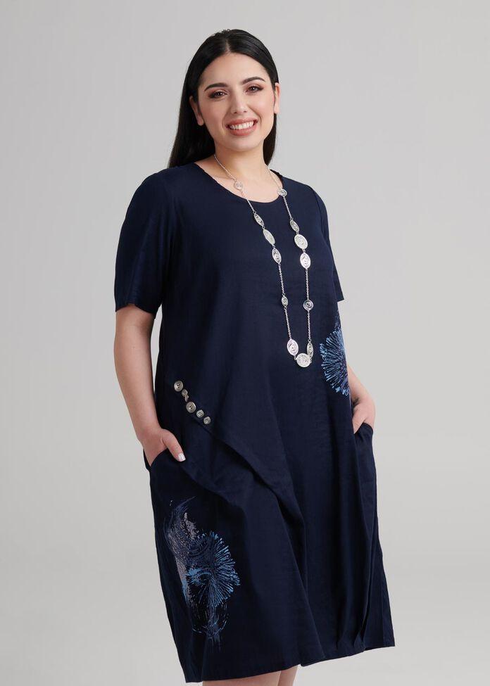 Latifa Linen Dress, , hi-res