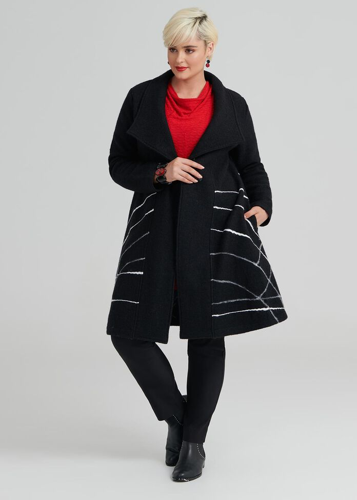 Remix Boiled Wool Coat, , hi-res