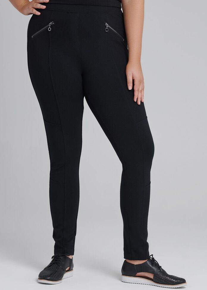 Tall Coco Luxe Zip Legging, , hi-res