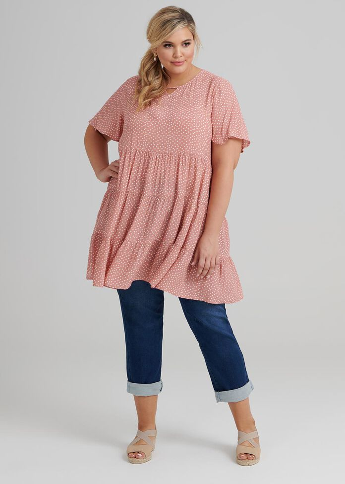 Teared Spot Tunic, , hi-res