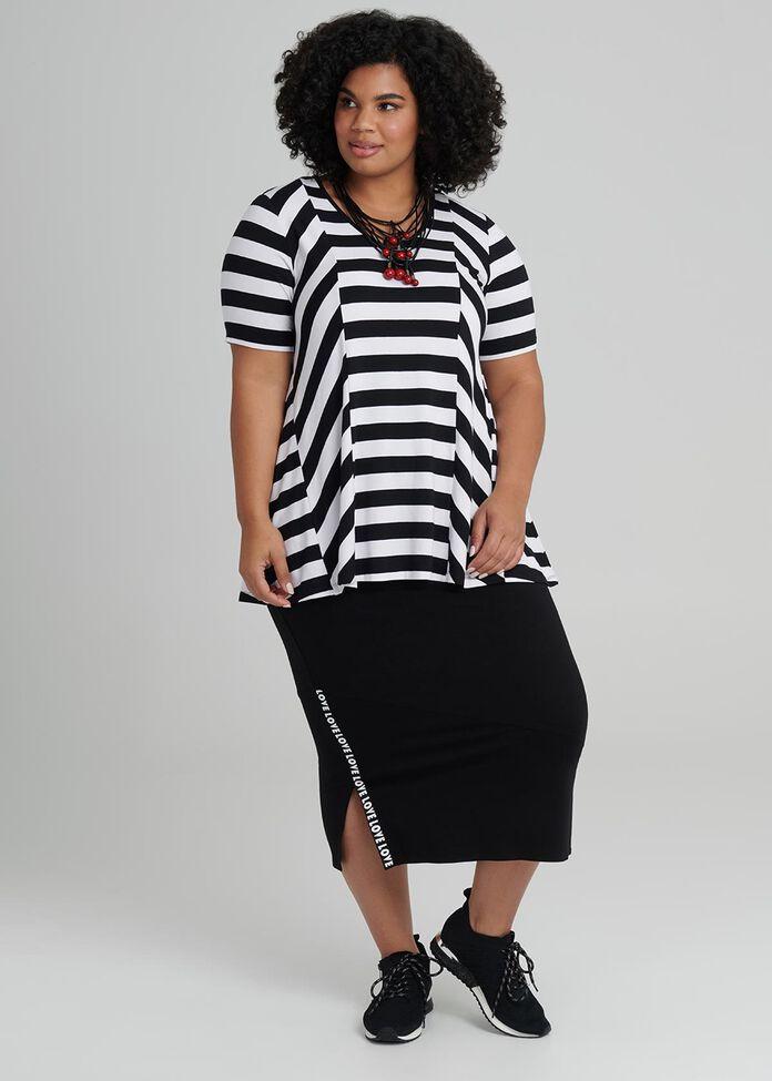 Elation Stripe Top, , hi-res