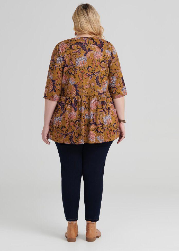 Ethnic Floral Top, , hi-res