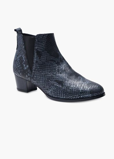 Lila Leather Snake Boot