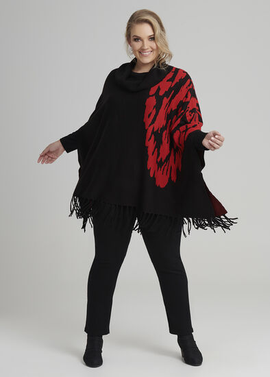 Bloom Jacquard Poncho