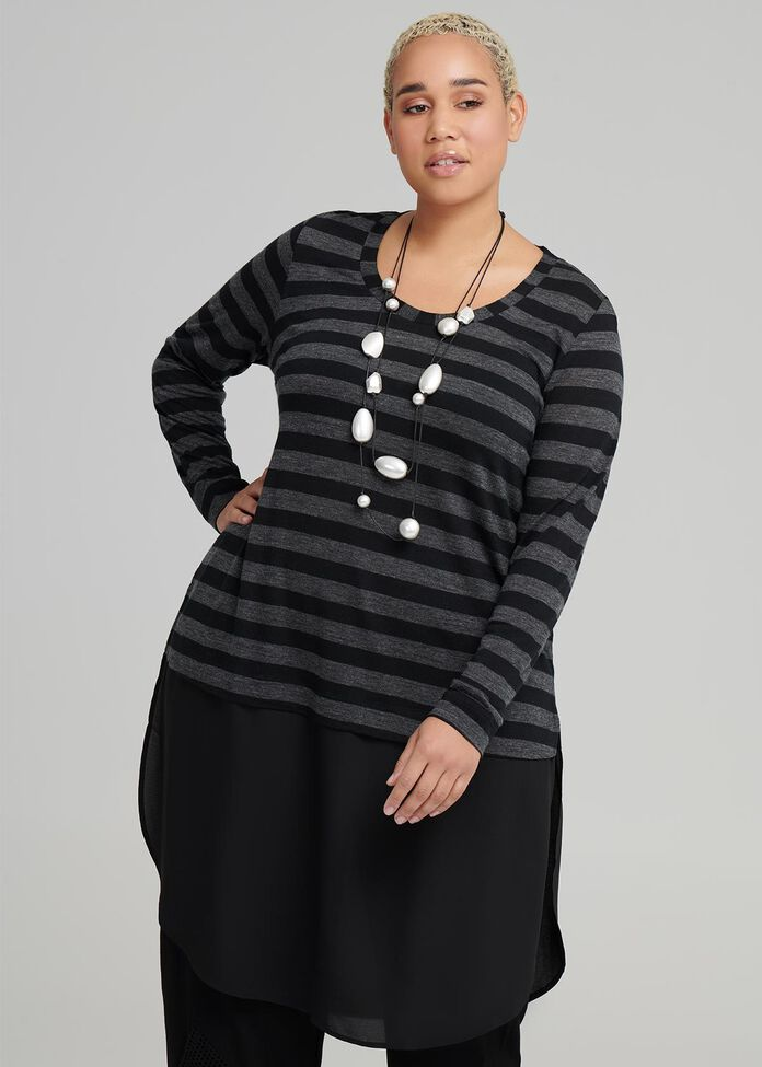 Aurora Stripe Wool Tunic, , hi-res