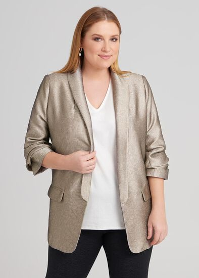 3/4 Sleeve Relaxed Jacket