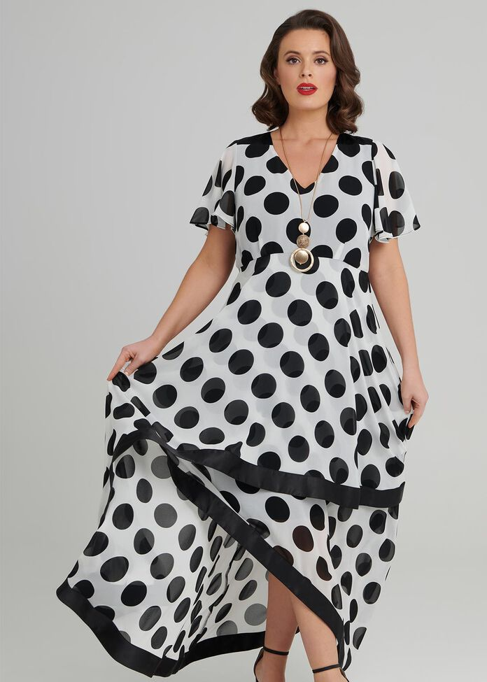 Ascot Spot Dress, , hi-res