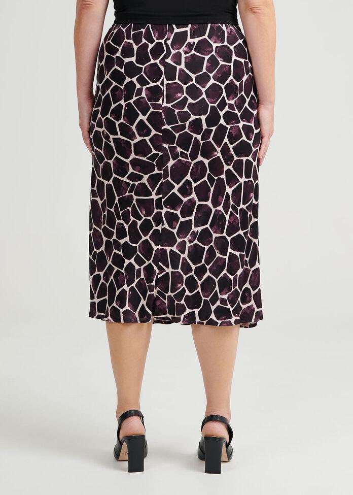 Chloe Giraffe Print Skirt, , hi-res
