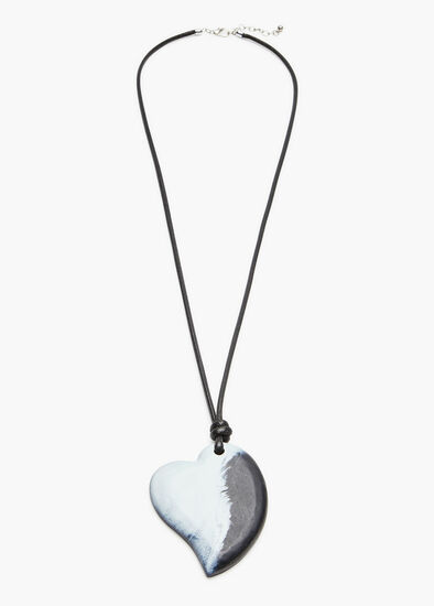Marbled Heart Necklace