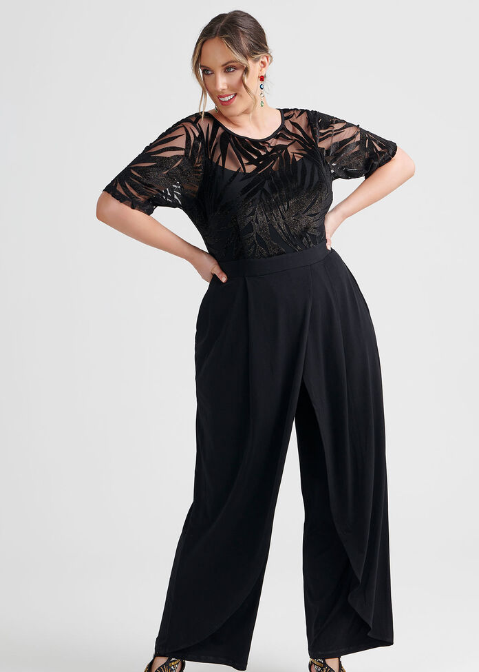 Sparkle Palms Jumpsuit, , hi-res